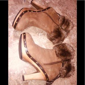 Colin Stuart Fur booties.